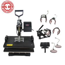 "New 15""x15"" Digital 8 in 1 Combo Heat Transfer Press Machine T-Shirt Hat Cap /t-shirt printing machine for sale on alibaba"