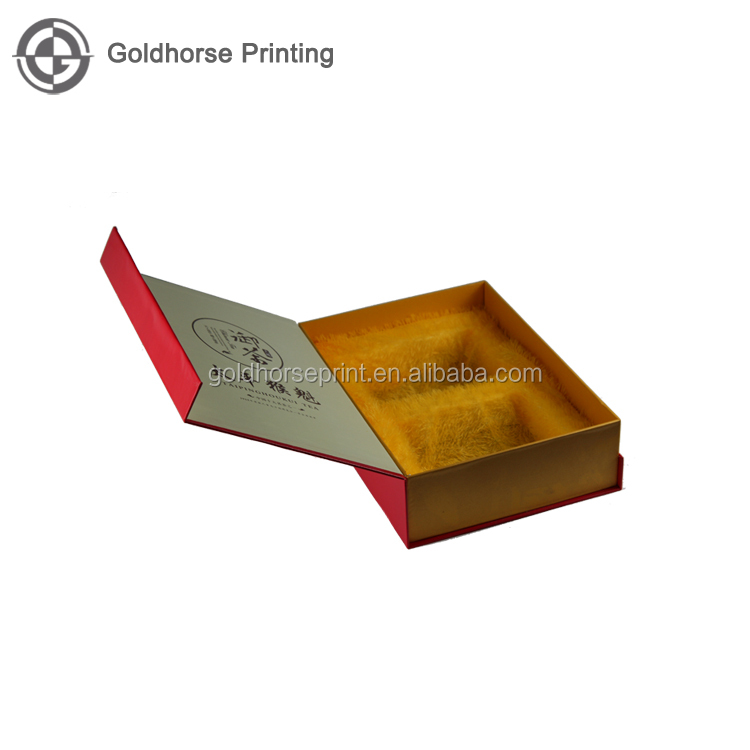 High Quality Book Shape Box With Velvet Insert/Solid Decorative Tea Packaging Paper Box