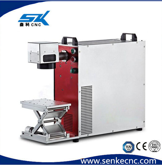 Jinan senke water cooled laser engraving machine metal bottle caps, ring, ink, Epoxy resin laser marking machine