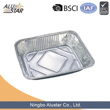 Half size disposable aluminum foil container for egg tart
