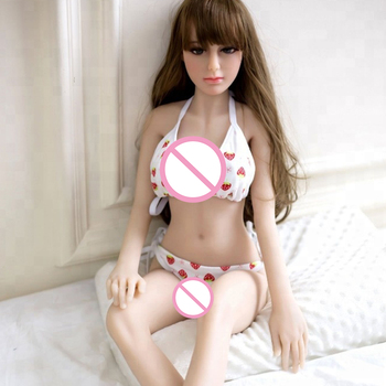 100CM Mini Sized Real Touching Life Like Small Breast Hot girl TPE Silicone Love Doll