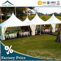 5x5m,6x6m aluminium frame pvc fabric tents canopy for wedding party and birthday with linings and curtains exported to Africa