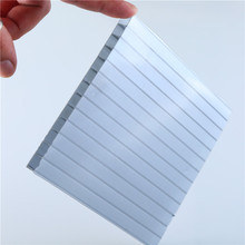 Free sample nice quality heat molding anti-scratch 6mm twin wall polycarbonate pc sheet / plastic sheets