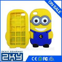 universally silicone phone case,fashionable Despicable Me for iphone4 4s,for iphone 4 silicone cell phonecase