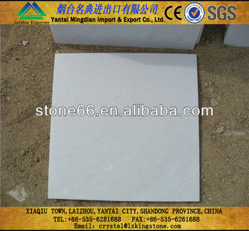 The Cheapest Laizhou Snow white marble tile