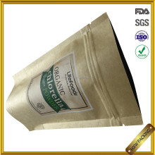 manufacturers ziplock stand up brown kraft paper bags for lifefood