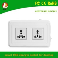 Double Gang Electrical Plug Socket With 4 USB Outlets Electric Faceplate