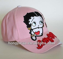2014 fashion newest design and style children caps / snapback caps logo design cotton fabric manufacturing