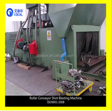 Steel Structure Section Profile Roller Conveyor Shot Blasting Surface Descaling Machine