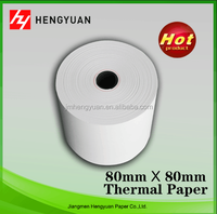 Custom pre-printed thermal paper rolls with various size by thermal paper