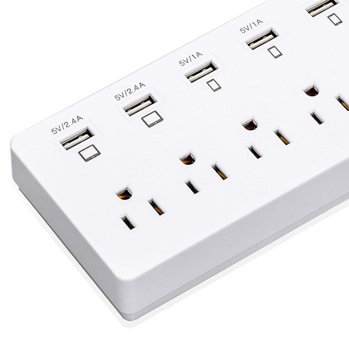 US 6 gang 6 way usb and plug power socket 3 pin USA multi-function socket