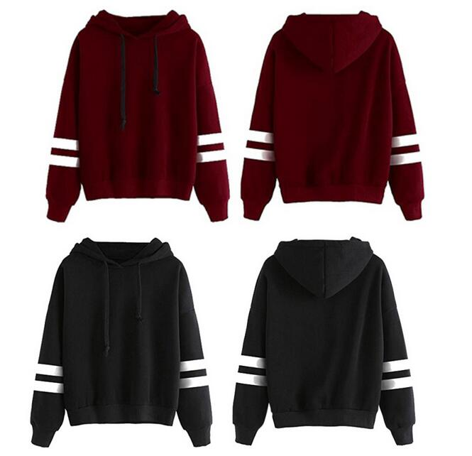 latest 2019 Women's Hooded Loose Long Sleeve Sweatshirt pullover Sportswear