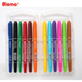 Bloma 12 assorted colors Dual tip permanent markers for CD/DVD and Kids underlining DIY
