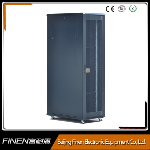 The Curved vented front and rear door 19'' server rack 42u