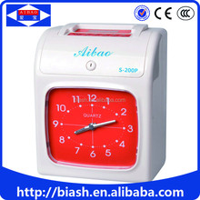 Best price automatic printing punch card attendance machine time recorder
