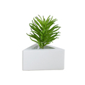 Hexigon shape bare cement interior decoration plain concrete planter