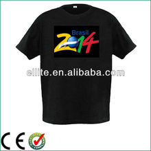 China factory supply customize own logo programmable led t shirt