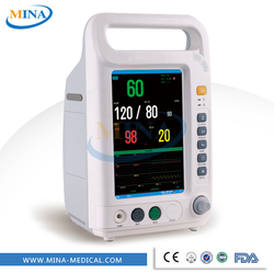 MINA-PM002 CE & ISO cheap portable patient monitor china 7 inch