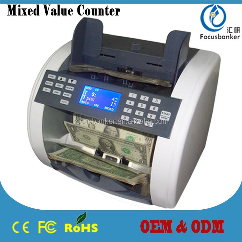 ( heavy-duty ! ) mix value cash counting machine/currency counter/money detector for Cayman Islands dollar(KYD)