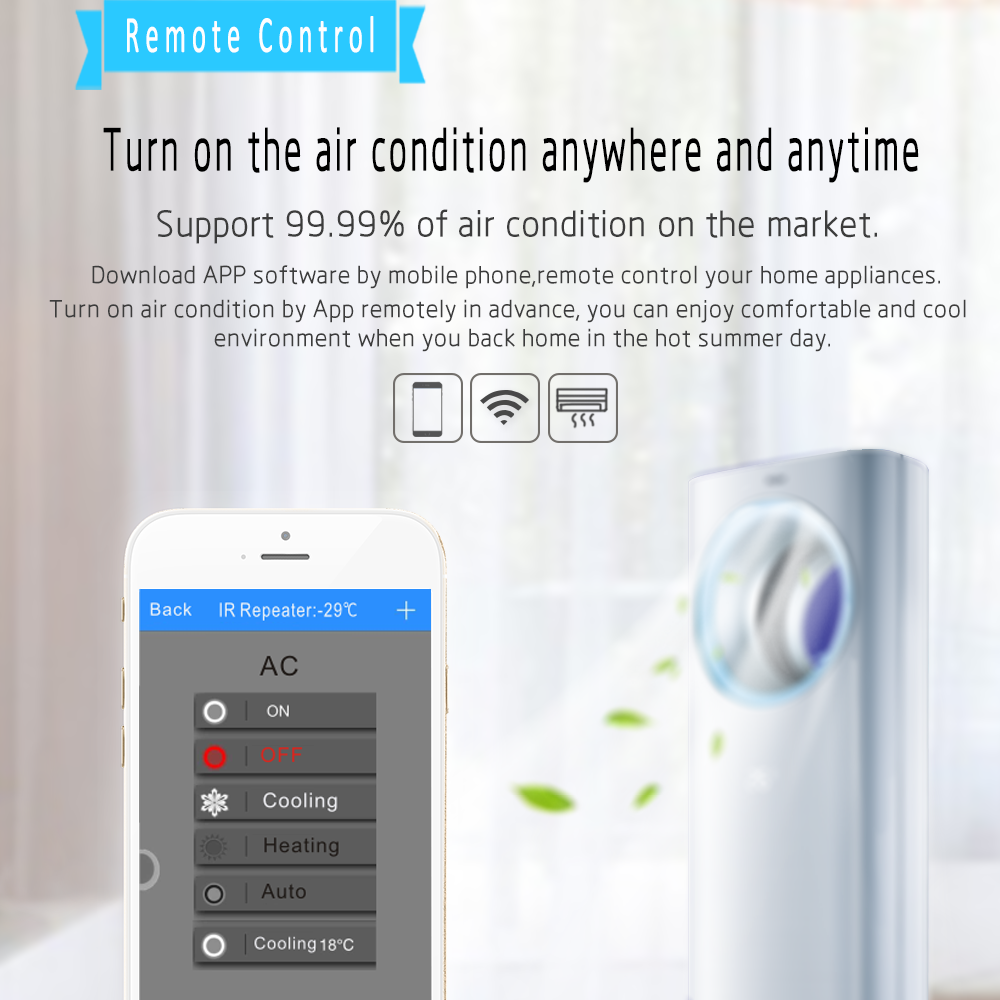 New Smart Life Wifi Smart Air Conditioner Control