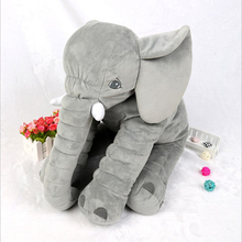 Grey Color 60cm Baby Elephant Plush Pillow Plush Animal Elephant Pillow Skin