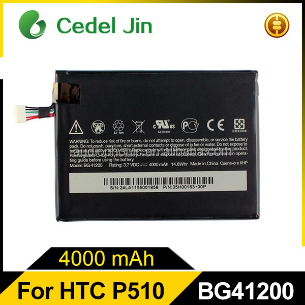 Lithium ion gb t18287-2000 mobile rechargeable dry battery for HTC Flyer P510E EVO View 4G baterias