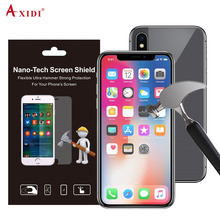 NANOSHIELD Amazon Warehouse Supplier Anti Glare Anti Shock Nano Screen Protective Film for iPhone X Screen Protector