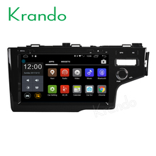 Krando Android 7.1 touch screen car dvd player with gps for honda fit 2014+ RHD android navigation system wifi DAB+ KD-HF914R