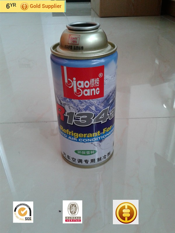 High Pressure Spray Cans Refrigerant R134a Gas Tin Can 250g