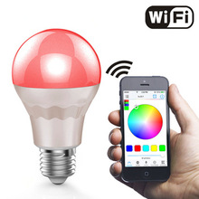 UL Listed WiFi LED Bulb, B22 E26 E27 WiFi Smart Dimmable Color Changing LED Light Bulb