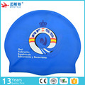 colorful print swim cap, silicone swim cap, swim hat