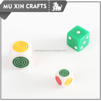 New Design Round Corner Game Plastic Dice for games