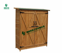 Outdoor wooden garden shed