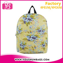 Pu leather retro sublimation backpack for kids