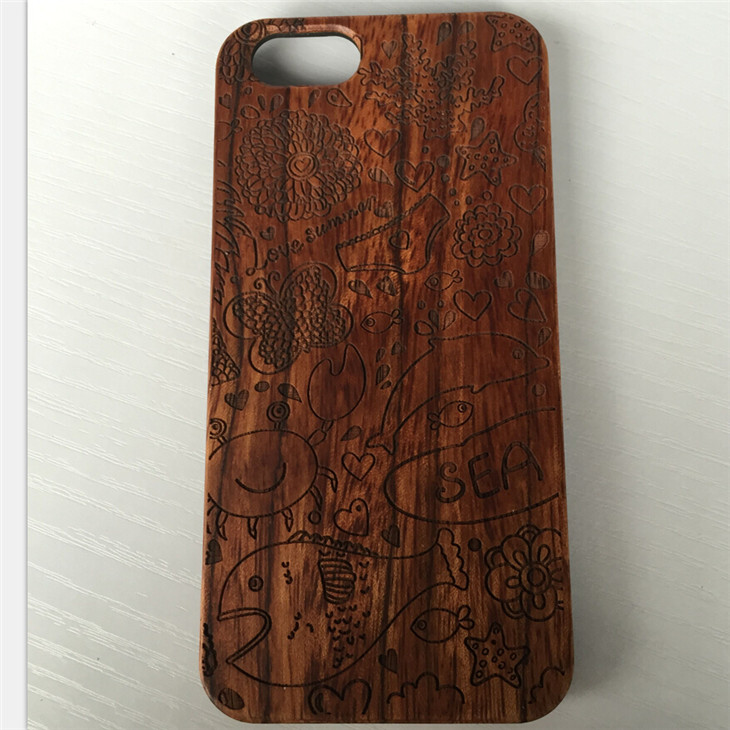 Laser Engraving Blank Sublimition cell phone cases Custom Designs Wholesale price for iphone6 walnut wood case