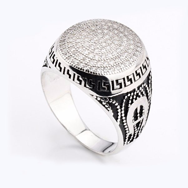 Alibaba top quality turkish jewelry dyeing craft fashion rings 925 silver zircon rings made in China