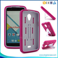 New Design Hybrid Holster Combo With Kickstand Multicolor Silicone+PC Cellphone Case For Blu Studio G D790u