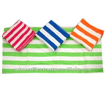 Soft combed cotton pastel beach promotion towel