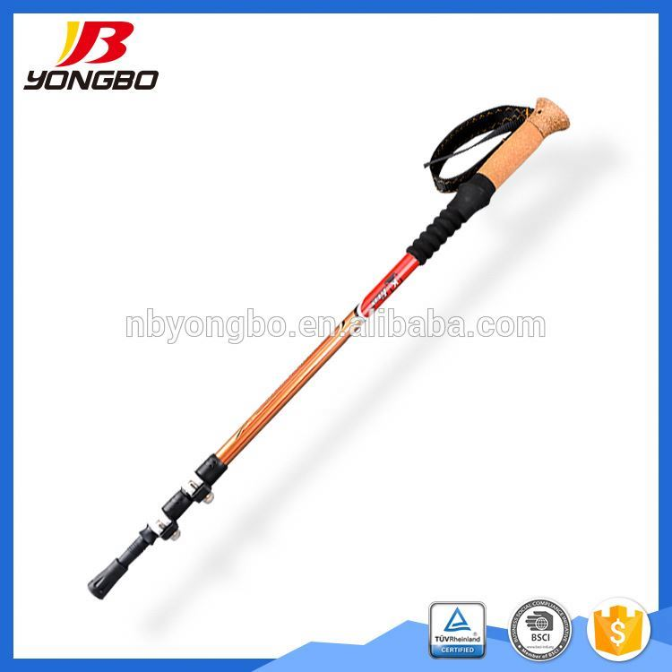 Nordic Walking Stick Carbon Straight Grip Telescopic Stick Handle Cork EVA Tungsten Hiking Trekking Pole Camping Equipment trek