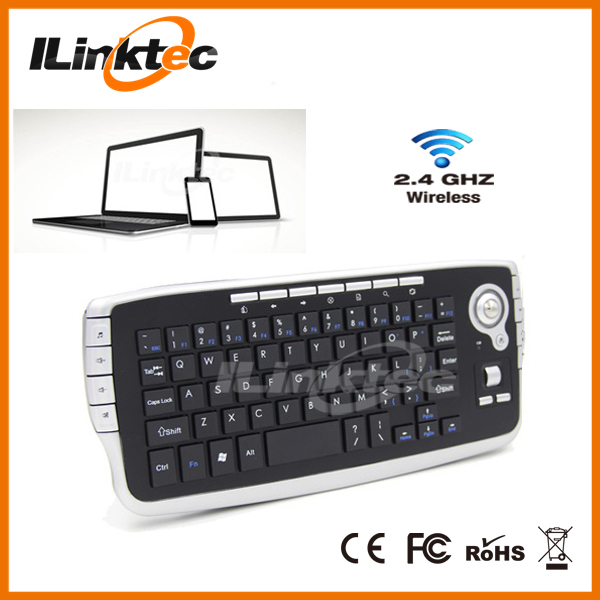 2.4G Game keyboard optical-sensor trackball controller for samrt tv game