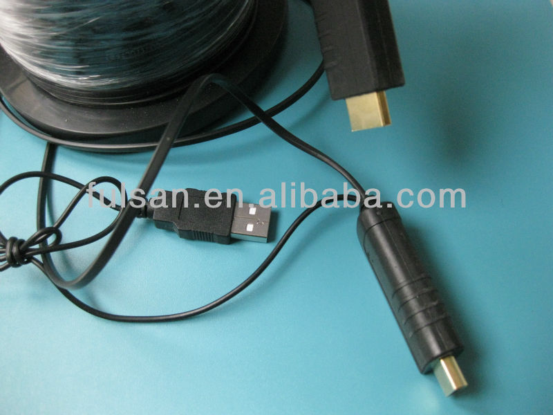 50 meter Feet Fiber Optic HDMI Cable with Pull Ring