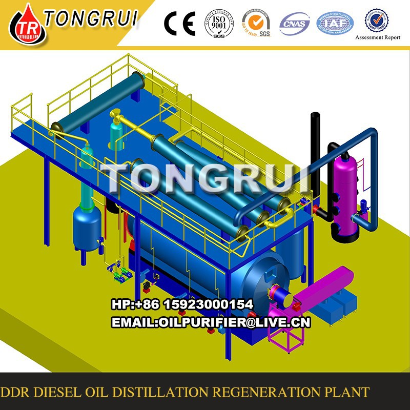 waste plastic pyrolysis oil refining system,Used Oil Regeneration Machine