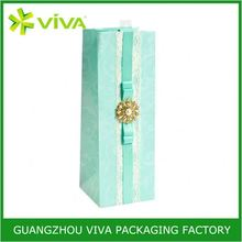 High quality paper custom elegant luxury wine gift bag