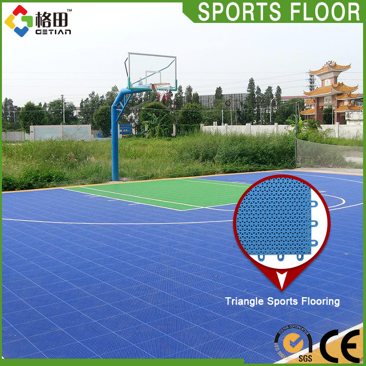 High-strength portable pp outdoor basketball court rubber floor