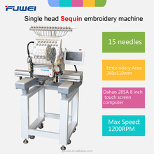 High Quality Single head Sequin+flat Embroidery Machine Computerized Embrodery machine