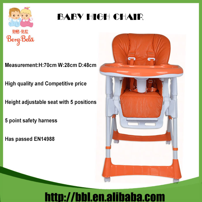 Healthy Care Deluxe Sitting Position Angles Adjustable Environmental PU Baby Doll Highchair
