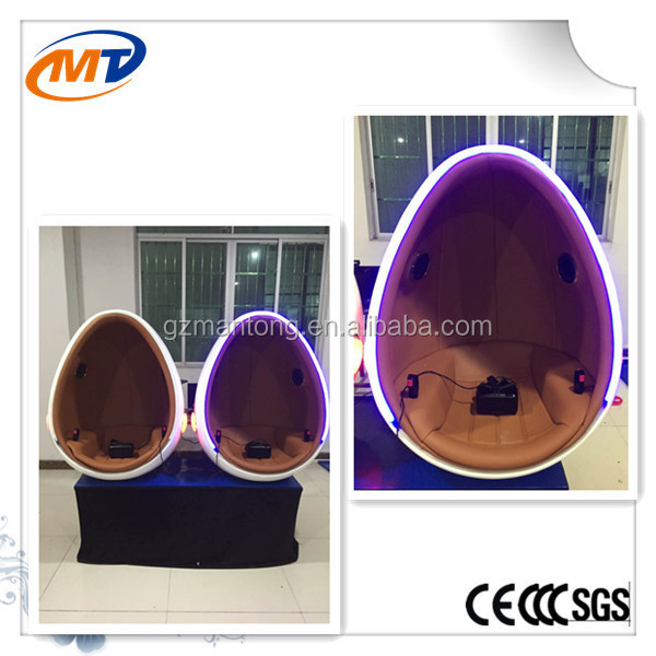 China top selling rotating platform 9D vr cinema stimulator 9D egg cinema 360 degree 9d vr cinema for amusement rides