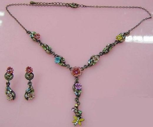Alloy Necklace And Earring Set