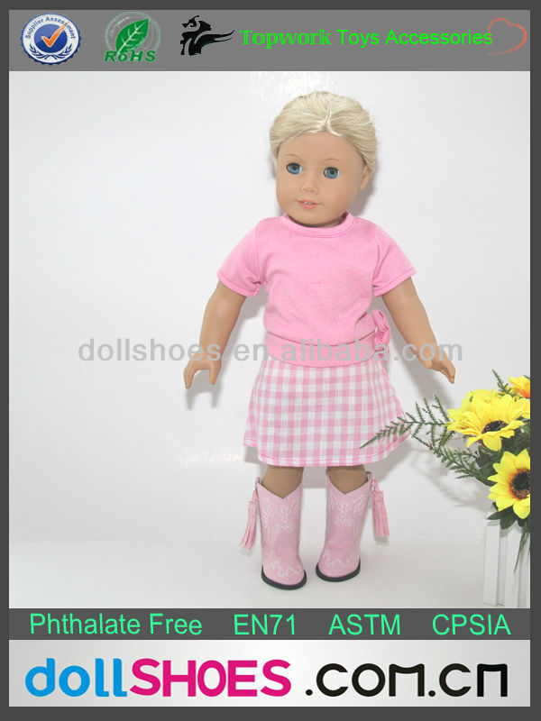 lovely fashion pink summer 18 inch doll dress doll accessories