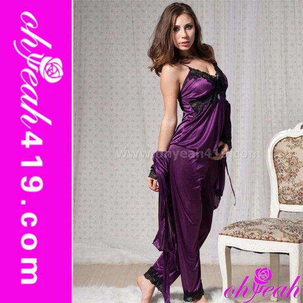 2013 Wholesale fashion satin babydoll lingerie 4 pics